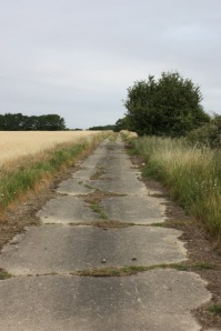 The perimeter road of the Gosfield airstrip.