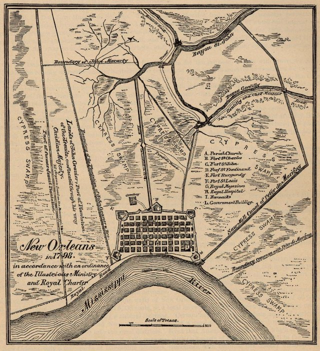 New Orleans in 1798. (Courtesy of the University of Texas Libraries.)